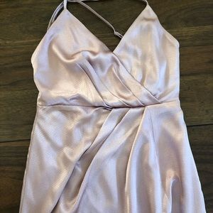 Tobi Dresses - Rose Gold Satin Maxi Dress